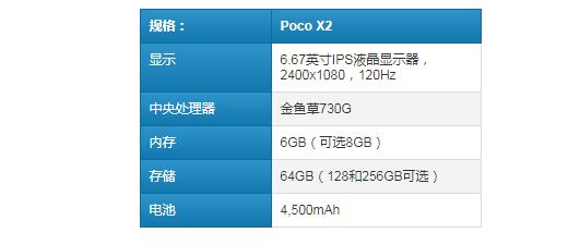 Poco X2是官方产品:预算为120Hz的显示屏并带四个摄像头