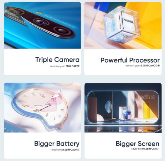 Realme C3将在尼西亚拥有三台后置摄像头