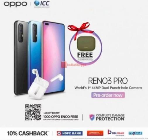 互联网资讯:现在可以预订新的OPPO Reno3 Pro非5G版本